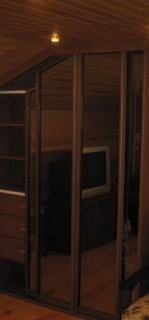 мансардный шкаф купе