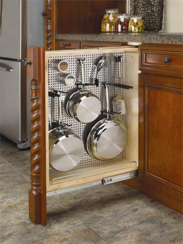 Выкатные ящики для кухни своими руками 20