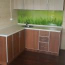 кухня фасады с алюминиевой кромкой