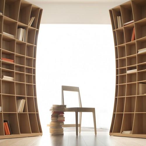 радиусный книжный шкаф 1