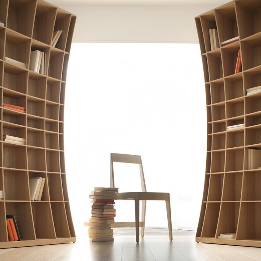 Радиусный шкаф для книг мебель от миттекс.