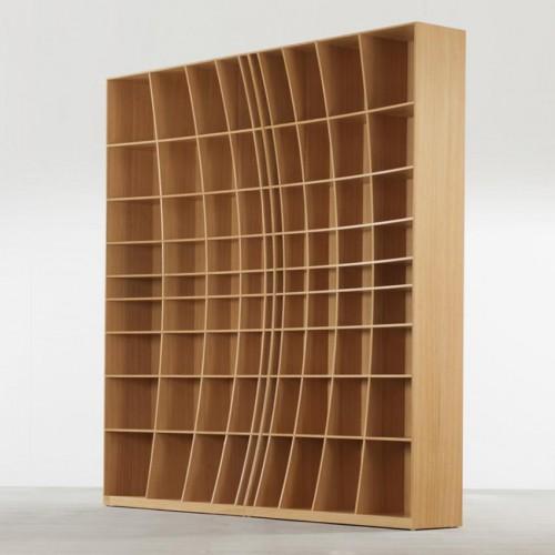 радиусный книжный шкаф 2