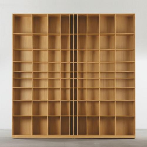 радиусный книжный шкаф 3