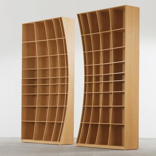 радиусный книжный шкаф 5