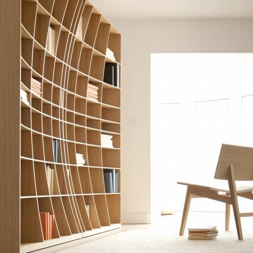 радиусный книжный шкаф