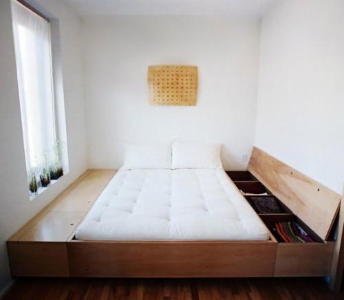 подиум для кровати с дополнительными ящиками