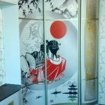 Радиусный шкаф в японском стиле