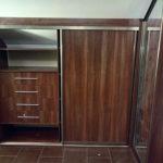 Угловой мансардный шкаф купе